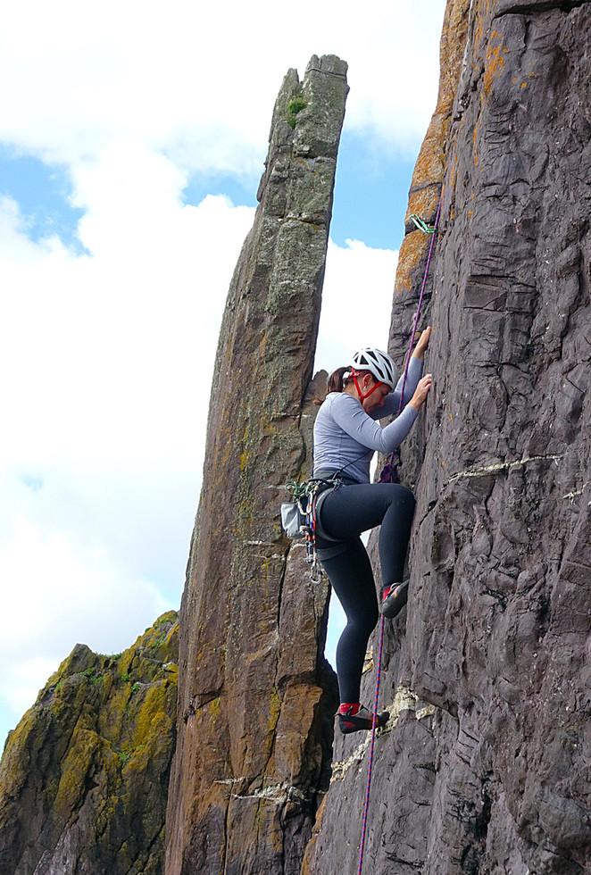 Trad climbing, Dunshean Head, Co. Kerry