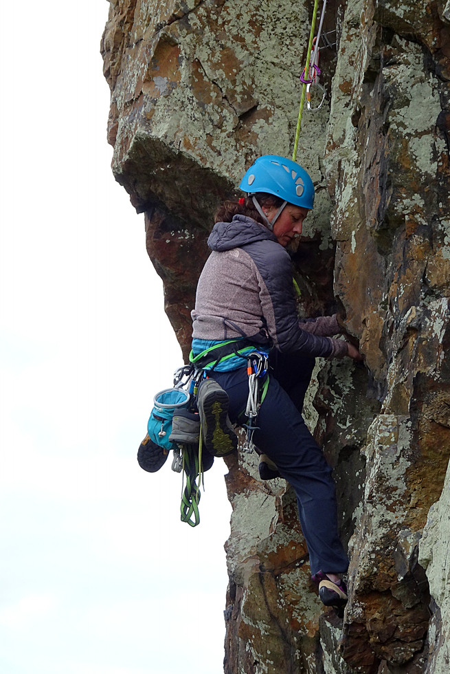 Trad climbing, Rocky Valley, Co. Wicklow
