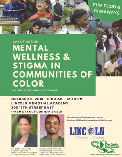 Day of Action – Mental Wellness & Stigma in Communities of Color – a 2-Generational Approach