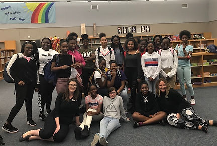 DIVAS at Human Trafficking Session at  Booker Middle School