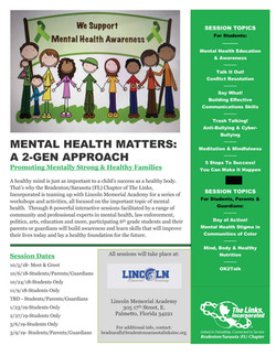 Umbrella Program – Mental Wellness Mental Health Awareness – Mental Health Matters:  A 2-Generatio