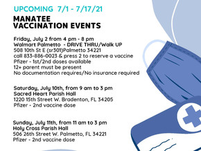Vaccination Events in the Manasota Area
