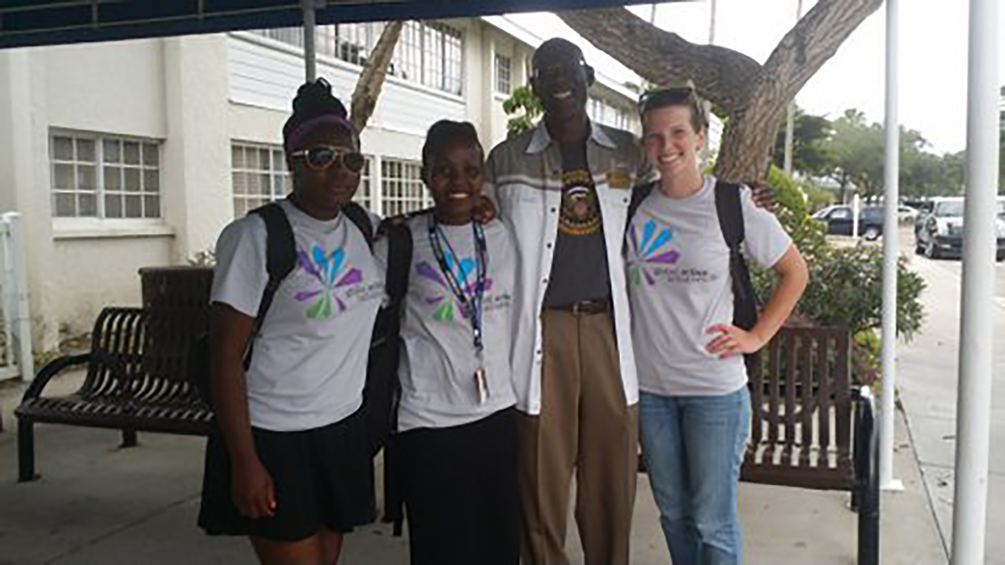 James McCloud, Pres-CEO with 2015 UN Youth Ambassodors