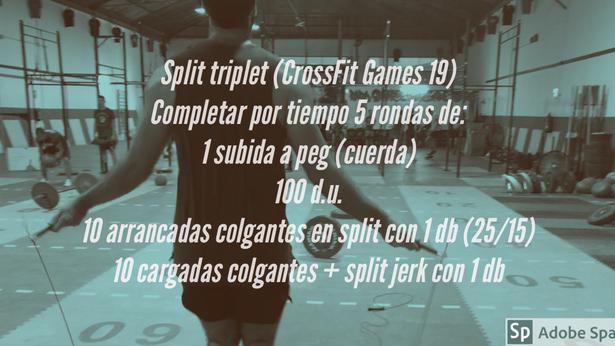 Split triplet (CrossFit Games 19)
