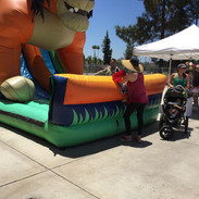 That's a big inflatable slide!