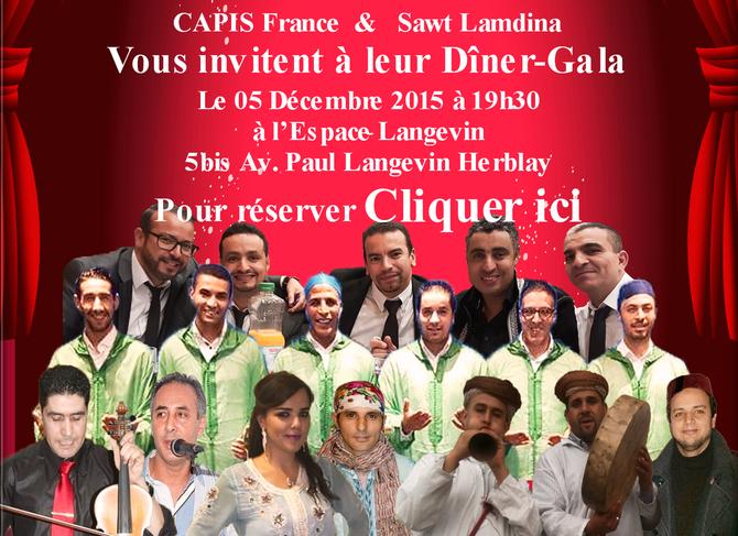 Réservez ici votre Dîner au Gala de CAPIS & Sawt Lamdina