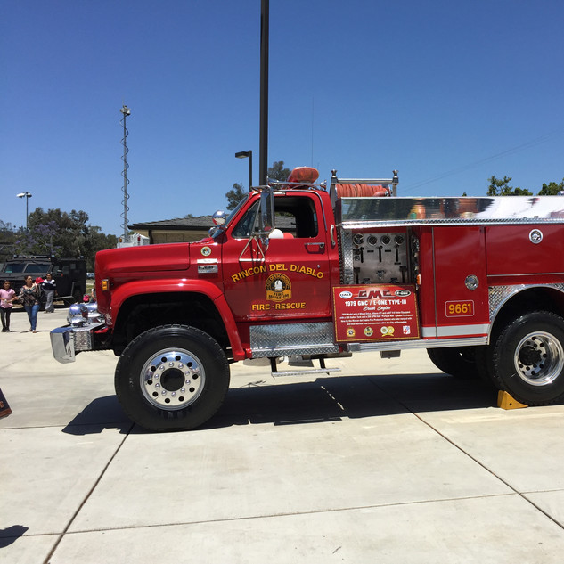 Vintage Rincon Fire Engine