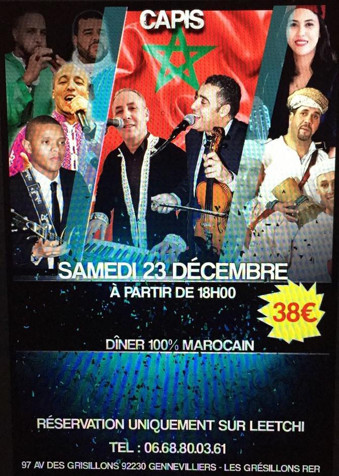 Dîner-Gala 100% Marocain en faveur des Enfants atteints de Myopathie au Maroc.