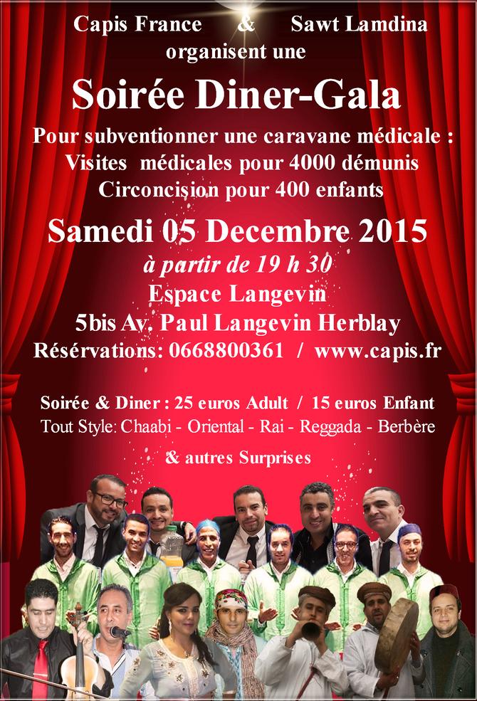 Soirée Diner - Gala CAPIS le 05-12-2015