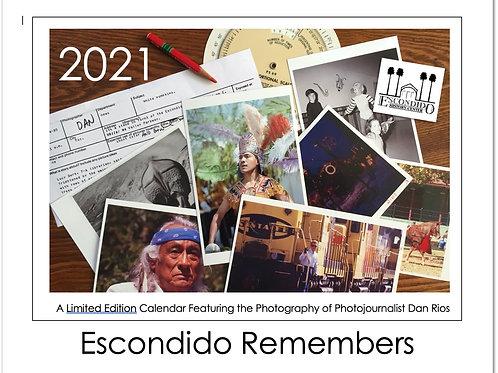"""2021 Calendar """"Escondido Remembers"""""""