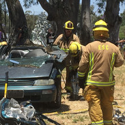 Vehicle extrication with Jaws of Life