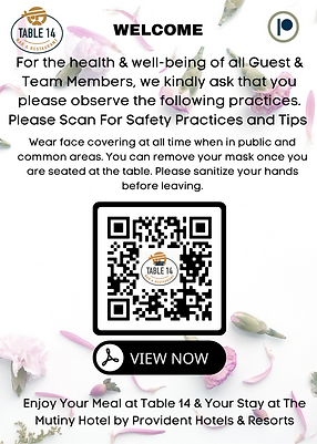WELCOME Please Scan Below For The menus