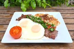 Breakfast - Churrasco steak and eggs