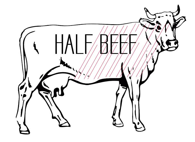 Half Grass-fed Beef
