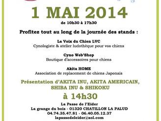 Stand La Voix du Chien LVC à l'Eider Parc le 1° Mai 2014