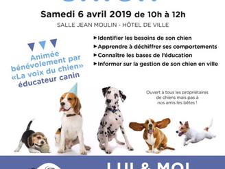 Conférence sur la connaissance du chien - Partenariat La Métropole Grand Lyon