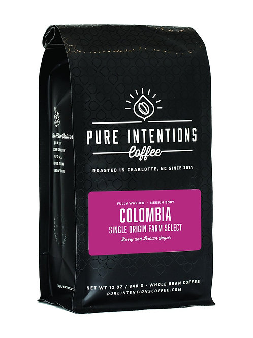 Pure Intentions Colombia Single Origin WHOLE BEAN coffee