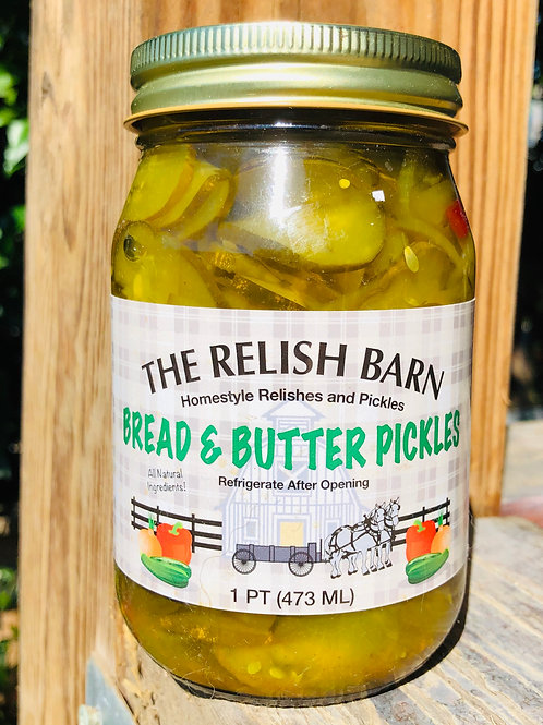 The Relish Barn Bread & Butter Pickles