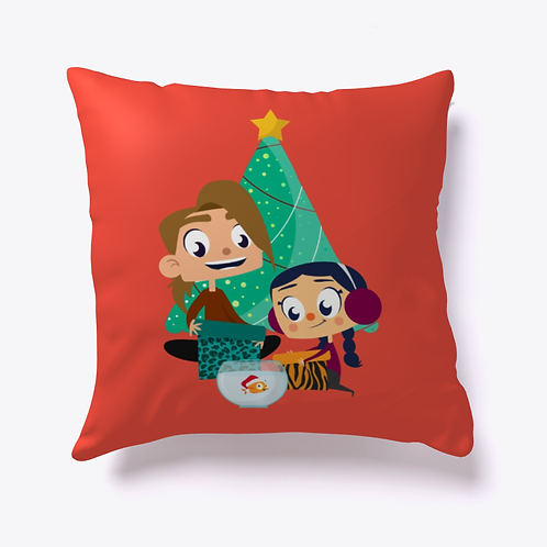 Breezy & Adam's Holiday Morning Christmas Pillow