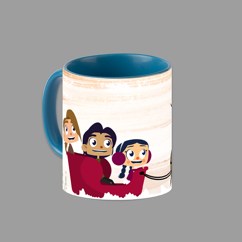 Sleigh Ride Light Blue Accent 11 oz. Mug