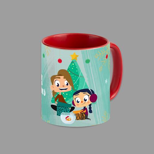 Merry Christmas  Red Accent 11 oz. Mug