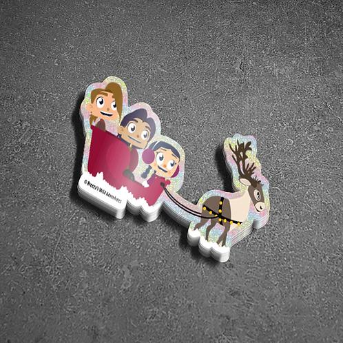 Sleigh Ride - Glitter Sticker