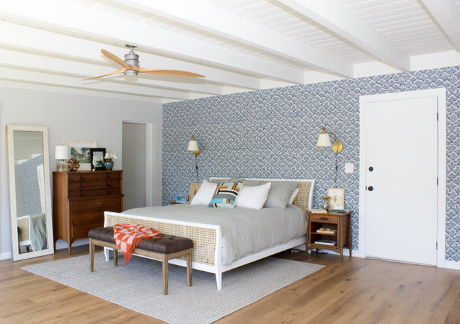 Mid-century modern master bedroom reveal