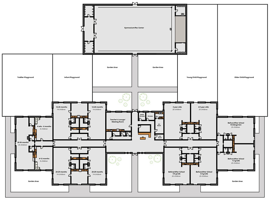 Proposed floor plan for Fidalgo Christian Childcare.