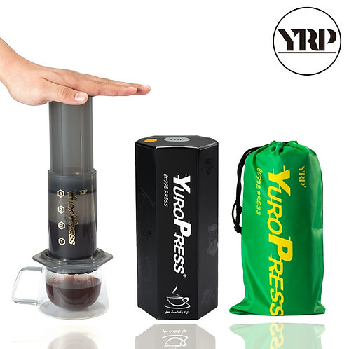 YRP YuroPress Portable French Press Coffee Pot Air Press Filters Paper