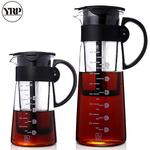 Hot/Cold Brew Dual Use Filter Coffee&Tea Pot Espresso Ice Drip MakerPercolators