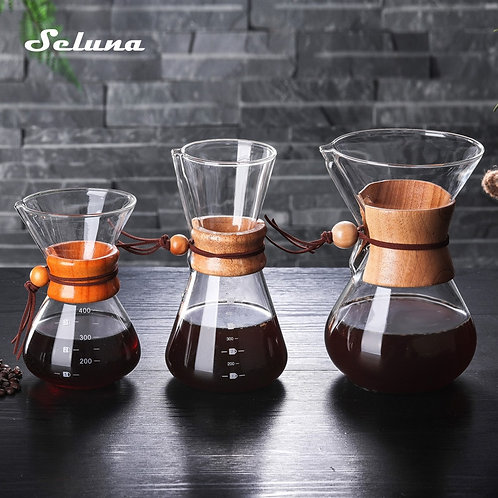 Seluna Glass Coffee Kettle With Barista Pour Over Coffee Maker