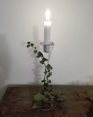 Glass Candle stick  rental for weddings and events in Lake Como