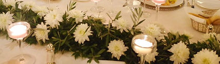 Lake Como event and wedding green table runner