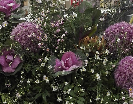 Lake Como  events and wedding florist, purple flowers