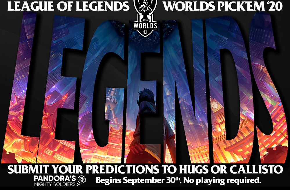 Submit your predictions to Hugs or Callisto. Begins 9/30. No playing required.