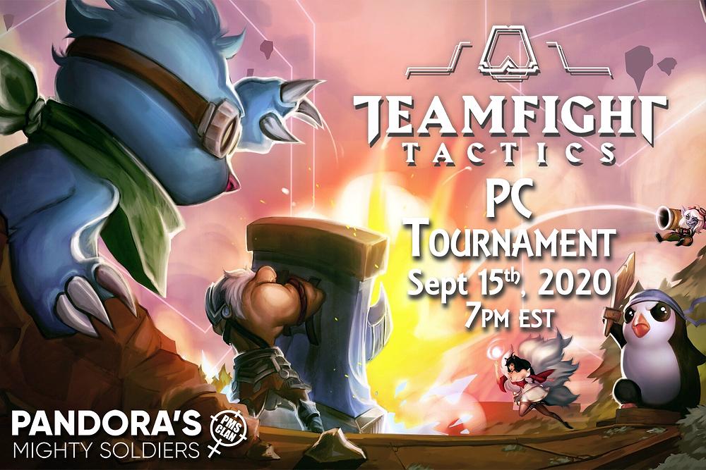 Sept. 15th -Teamfight Tactics PC @ 7 PM EST
