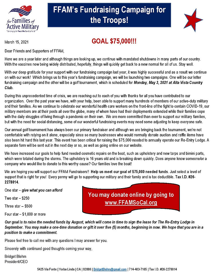 Fundraising Solicitation Letter March 20