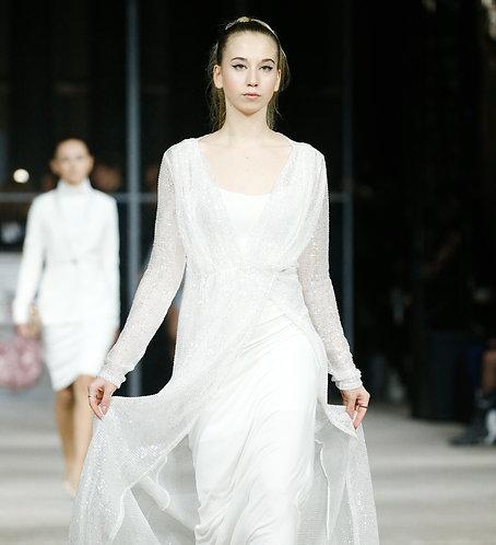 Вечернее платье в пол с пайетками
