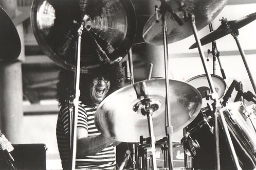 Autographed Photo of Hirsh on Drums