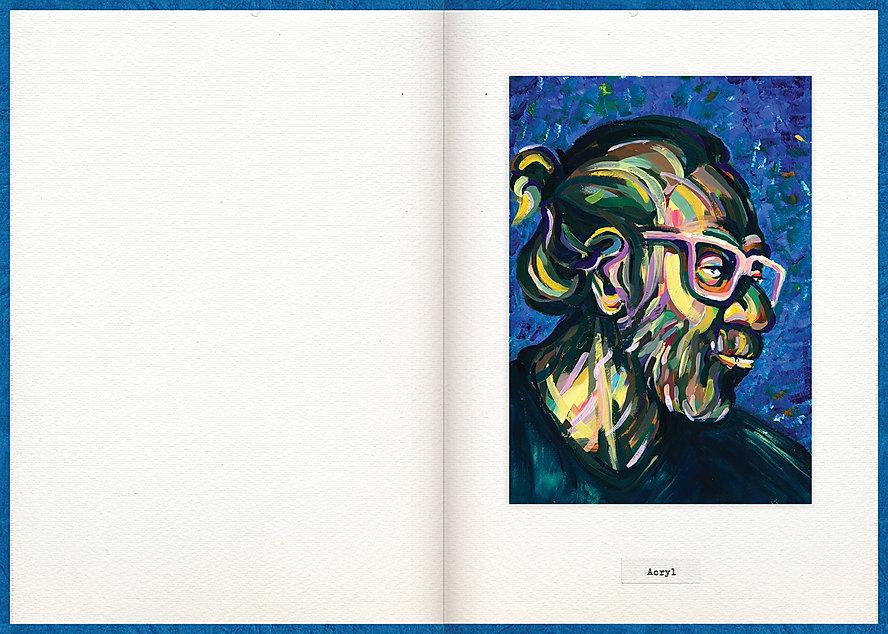 LilyaBie-Portrait-Book-acryl-drawing