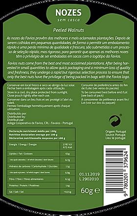 Packaging design walnuts back label