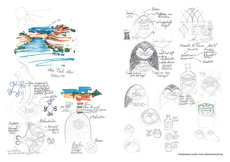 packaging design sketches portugese specialiies