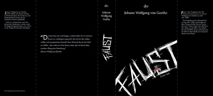 Book cover design Faust by LilyaBie