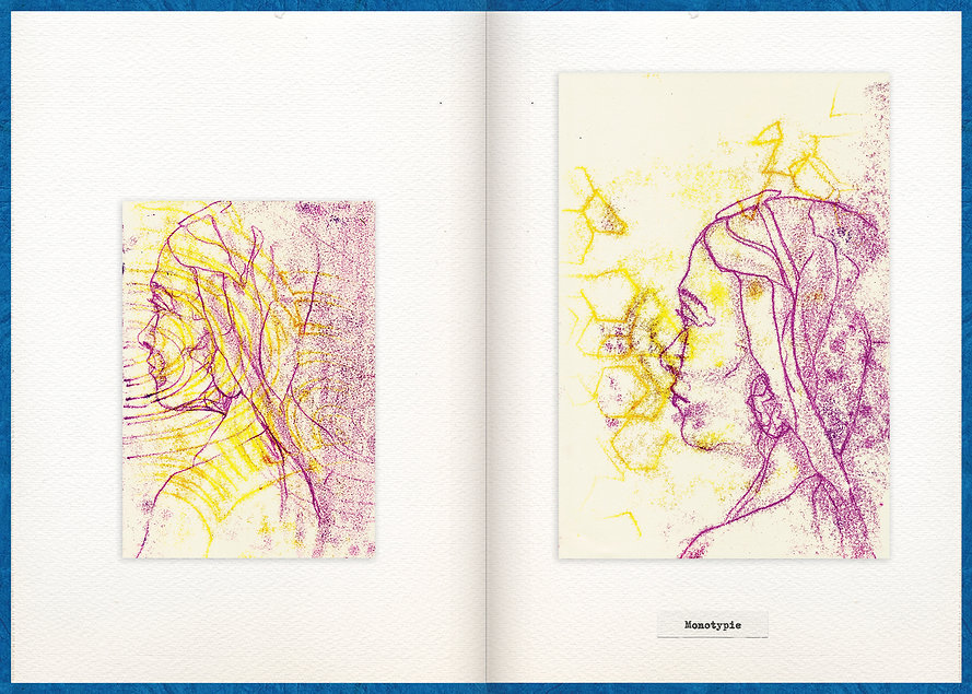 LilyaBie-Portrait-Book-monotype-techique