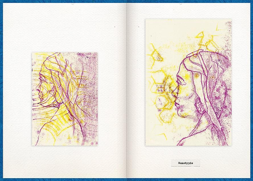 LilyaBie-Portrait-Book-monotype-techique