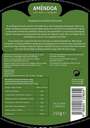 Packaging Design almonds back label
