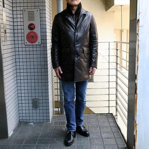 SM07 革製防寒ショートコート