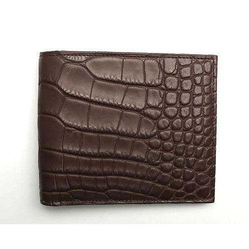PR80 マットクロコダイル素材の折財布
