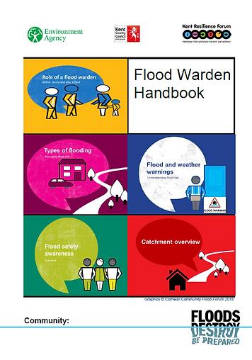 Front cover of flood warden handbook