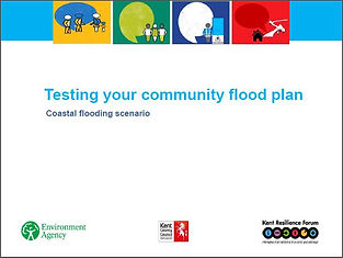 Front page cover of Testing your community flood plan coastal flooding